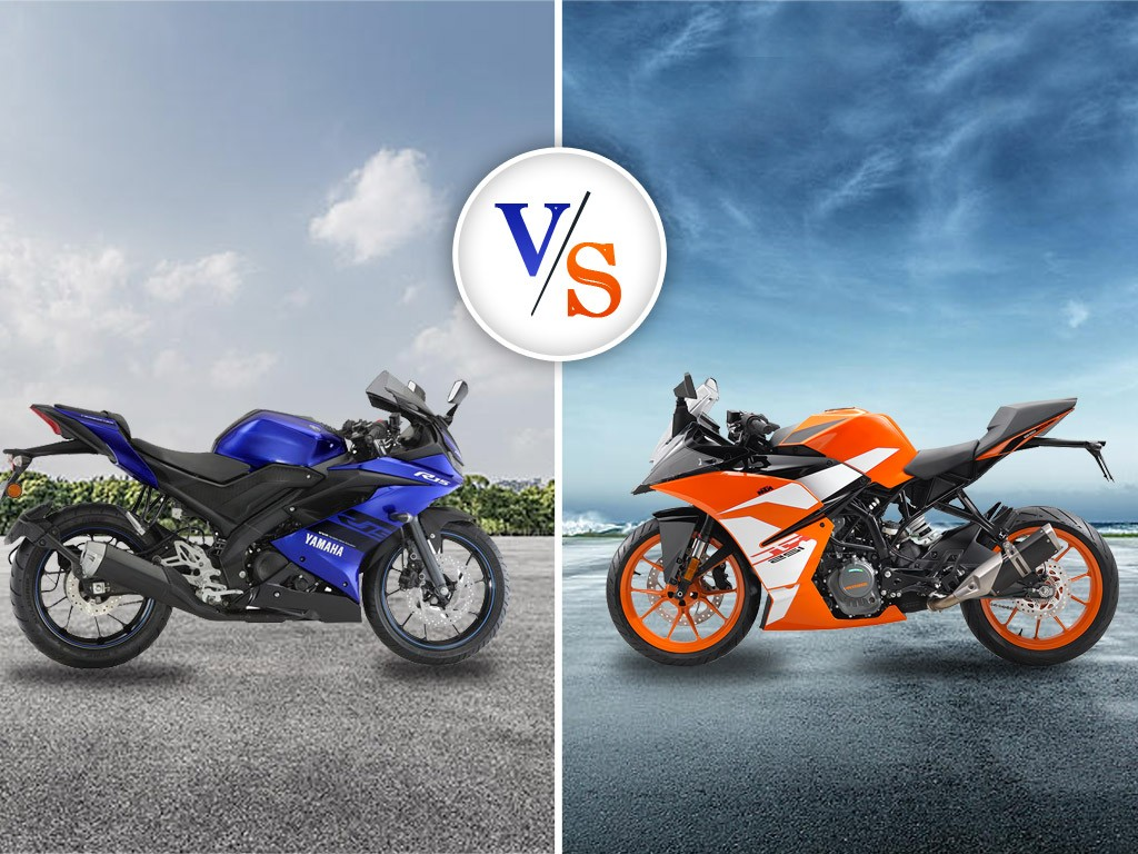 Comparison Test of Yamaha R15 V3 vs KTM RC 125 – Price, Spec, Color