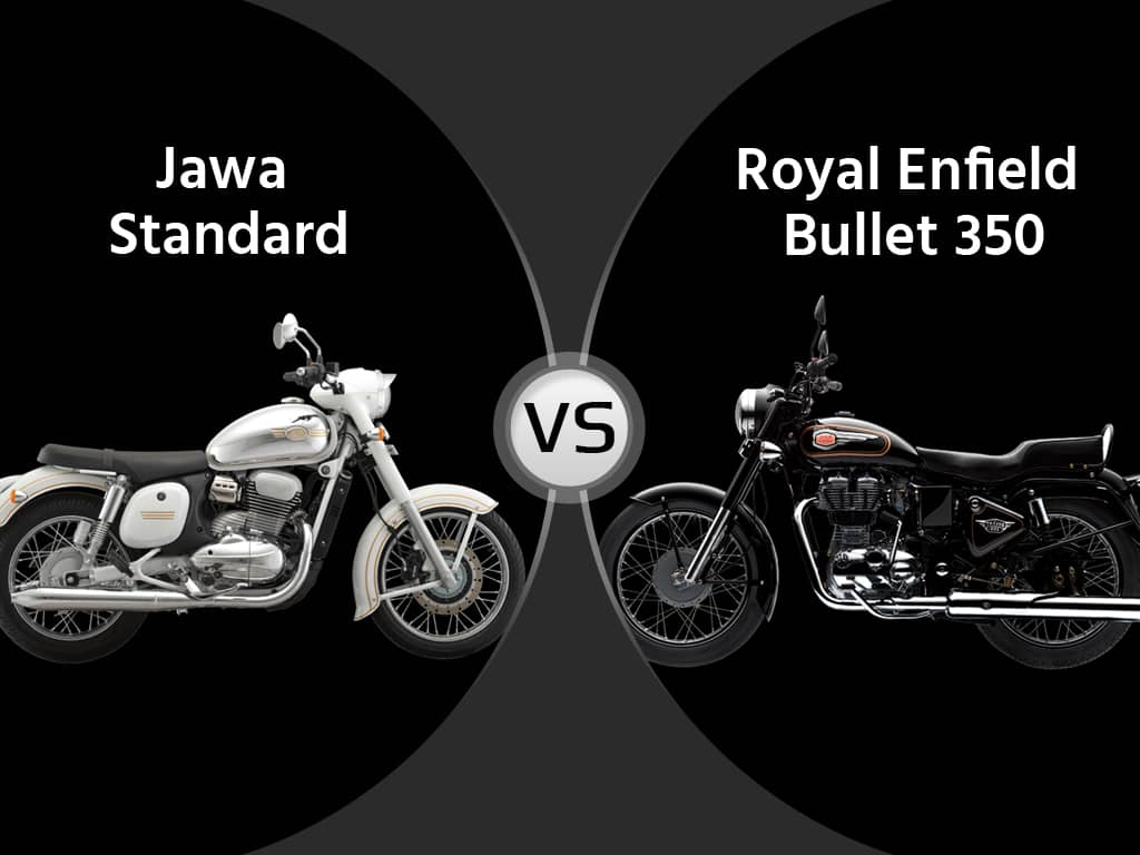 New Jawa Standard Vs Royal Enfield Bullet 350 Motorcycle Comparison: Specs, Price, Mileage and Performance, Review