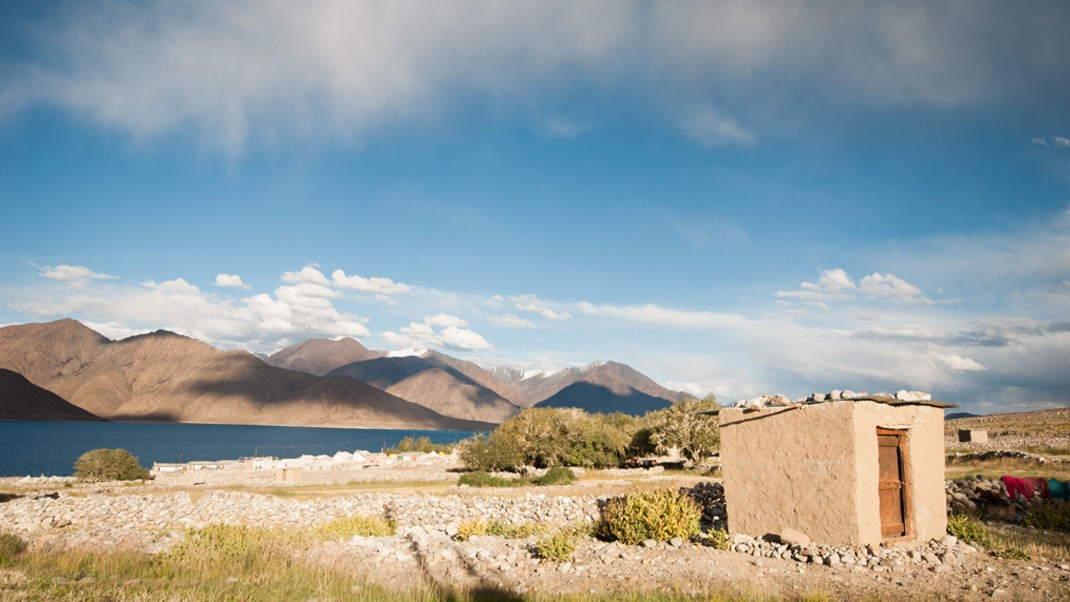 Pangong lake Morning view