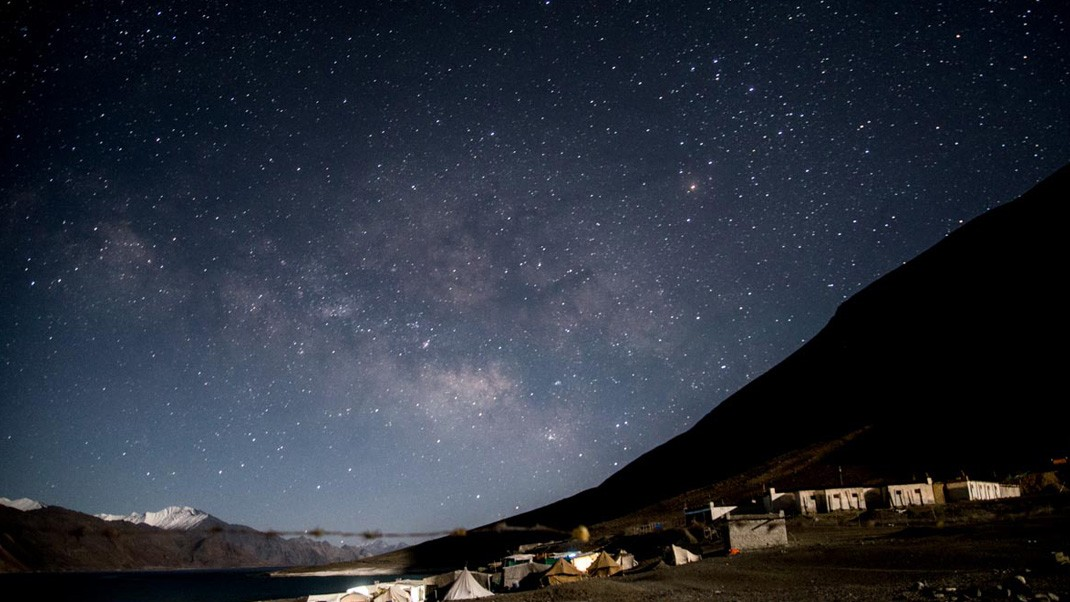 Pangong Lake Night Campaing